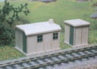 Ratio 238 Concrete Lineside Huts (2) (N gauge kit)