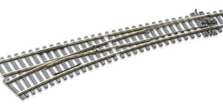 Peco SL-E187 Code 75 Electrofrog Curved Left Hand Point (OO gauge)