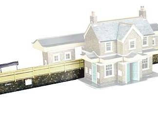 Superquick A1 Station Platform (OO scale card kit)