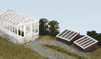Wills SS20  Greenhouse and 2 coldframes (OO gauge plastic kit)