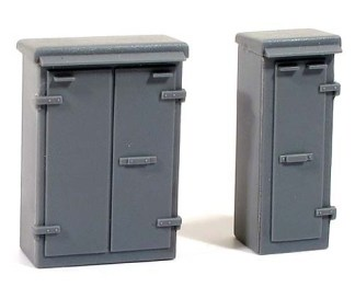 Wills SS85 Relay Boxes Set 1 (OO scale plastic kit)