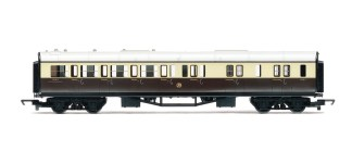Hornby R4524 RailRoad Collett brake third 5121 in GWR chocolate and cream (OO gauge)