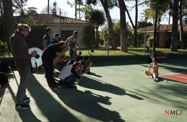 Sesión WORSHOP exterior pista de Tenis - Georgy con los fotógrafos participantes