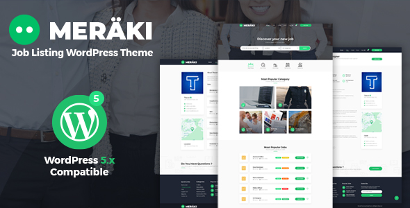 Meraki – Job Board WordPress Theme
