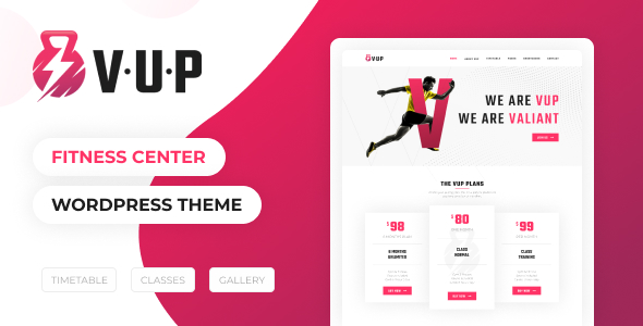 VUP – Fitness Center WordPress Theme