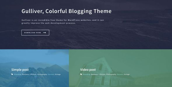 Gulliver – Creative Colorful Blogging Theme