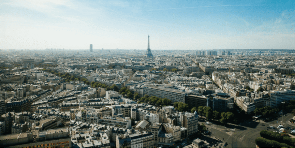 The cityscape of Paris