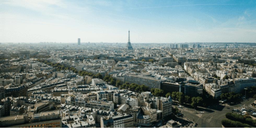 The cityscape of Paris