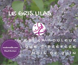 Le gris lilas: la couleur du mois de juin