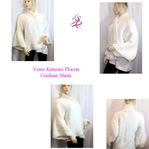 Kimono Flocon couleur blanc