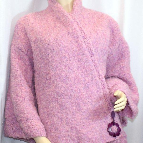 Kimono Flocon couleur mauve