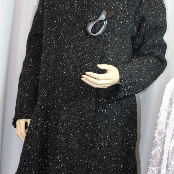 Veste longue à basques yack tweed