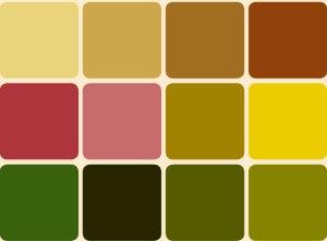 La couleur noisette