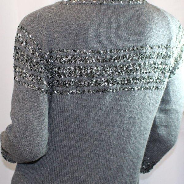 Veste cachemire grise
