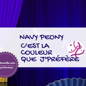 Navy Peony