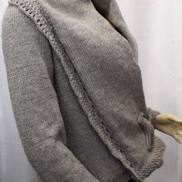 Veste en alpaga Rascar Capac gris moyen