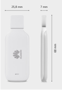 Huawei E3533 hi-link modem size