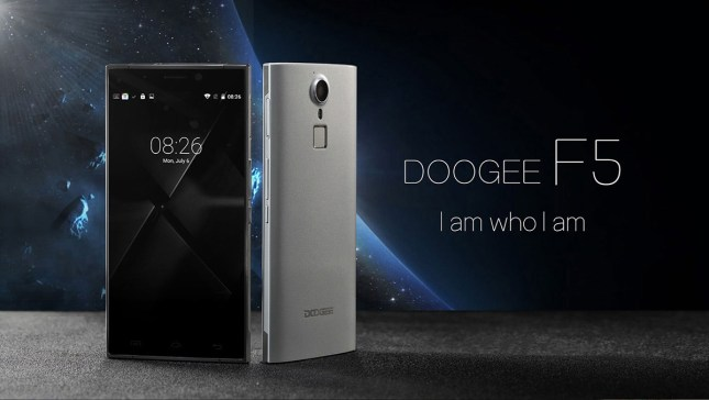 Doogee F5 - front and back