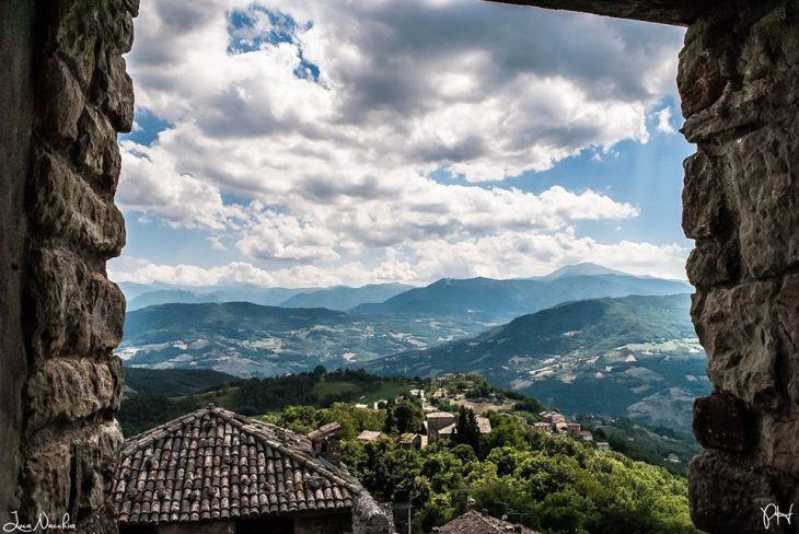 Veduta dal Castello di Montecuccolo - Foto Luca Nacchio