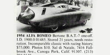Road & Track — Alfa Romeo B.A.T. 7