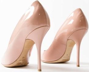Lacquer Pumps i Nude Pink Dior bak