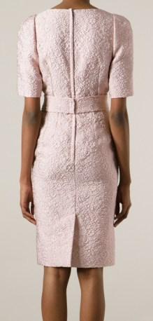 Pink Flora Dress bak