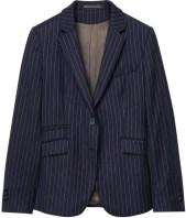 Pinstriped Wool Blazer i Navy GANT fram