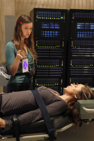 "SciFiWire: A first look at guest star Summer Glau (left, with Eliza Dushku) from the upcoming episode ""The Left Hand"""