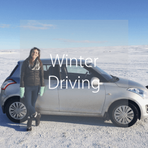 Winter driving in Iceland