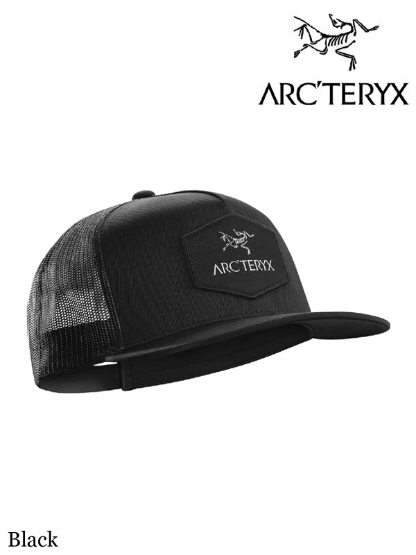 ARC'TERYX,アークテリクス,Hexagonal Patch Trucker Hat Black,ヘクサゴナルパッチトラッカー キャップ ブラック