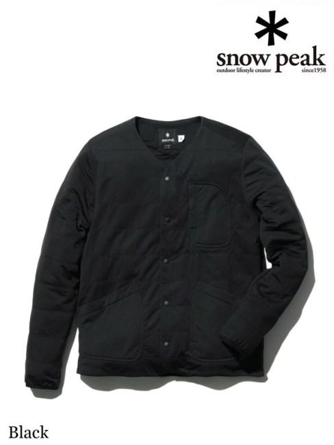 snow peak,スノーピーク,Flexible Insulated Cardigan #Black,フレキシブルインサレーションカーディガン #ブラック