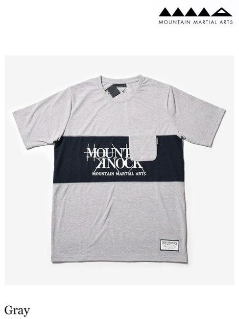 MMA、 マウンテンマーシャルアーツ 、MMA×Hunger Knock Originals Panel Tee #Gray 、 MMA×HUNGER KNOCK originals パネルTシャツ