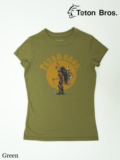 Teton Bros., ティートンブロス ,WS TB Hiker 18 Tee (Women) #Green ,TB ハイカー 18ティー(レディース)