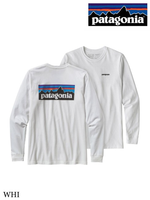 patagonia,パタゴニア ,Men's LS P-6 Logo Responsibili Tee #WHI ,メンズ・ロングスリーブ・P-6ロゴ・レスポンシビリティー