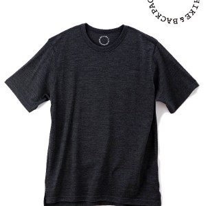 山と道|Light Merino Crew Neck T-shirt  #Chacoal Marl