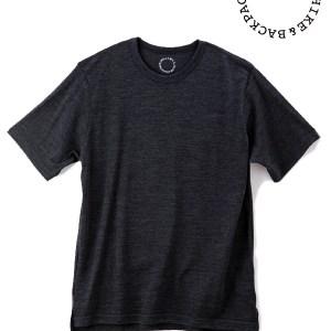 山と道|Light Merino Crew Neck T-shirt  #Chacoal Marl
