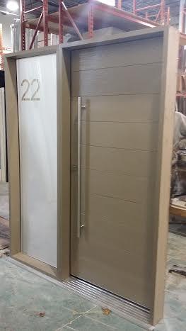 Fiberglass Door Modern Rustic Door Beige Color With