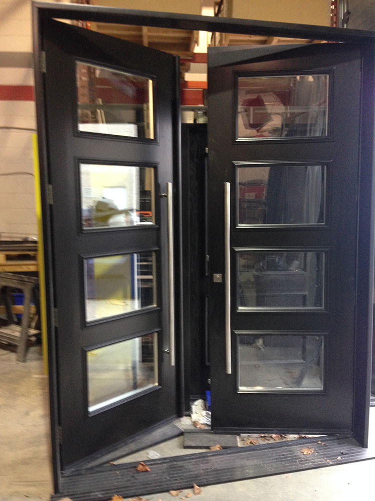 Fiberglass Doors Modern Fiberglass 8 Foot Doors With 4