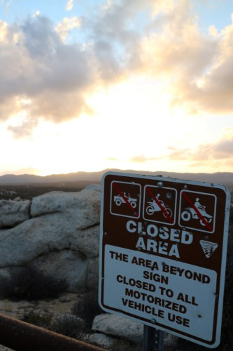 Vehicular travel is prohibited in designated wilderness areas.