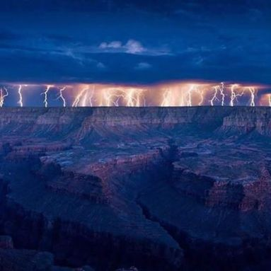 Lightning Storm in the Grand Canyon