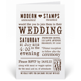 Wedding Invitation Stamp