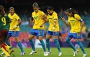 Brazilian footballers dancing the Samba World Cup 2014