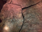 Graffiti by early humans of the Holocene period in Minas Gerais, Brazil