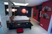 "The ""Japan"" themed room at Le Monde love motel."