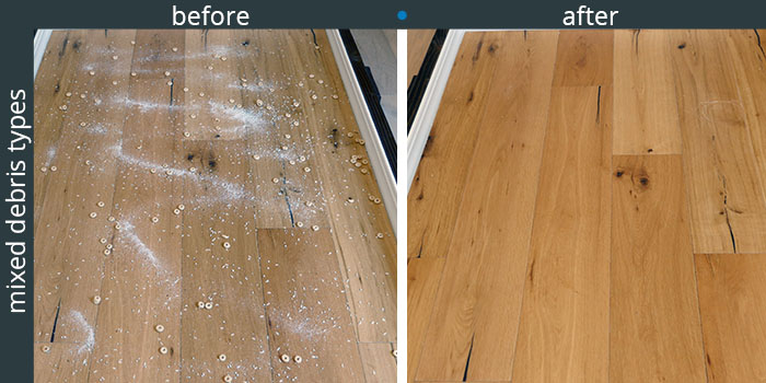 Tesvor cleaning performance on hardwood floors