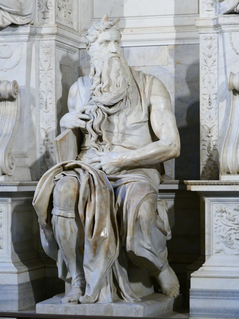 One of Michelangelo's greatest sculptures, just hanging out in a church by the colosseum.