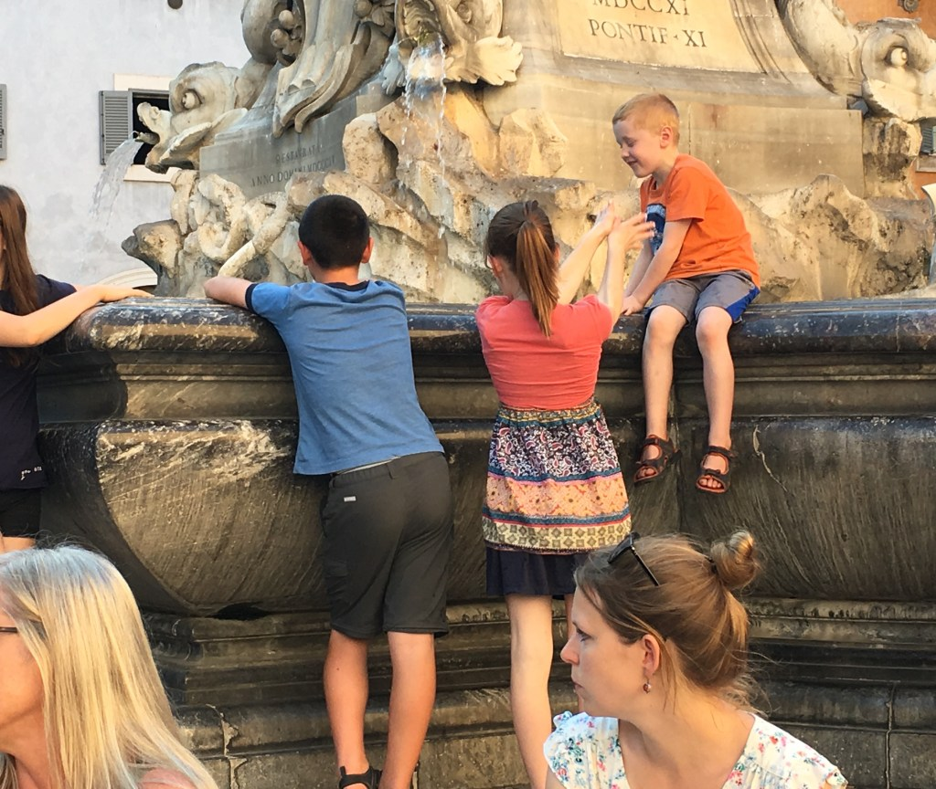 Cooling off by the Pantheon