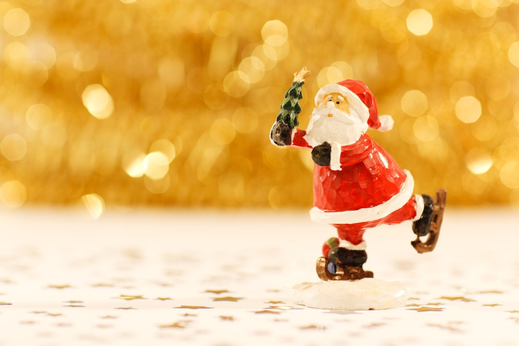 Saint Nicholas (Santa Claus) usually skates into our home on December 6th.