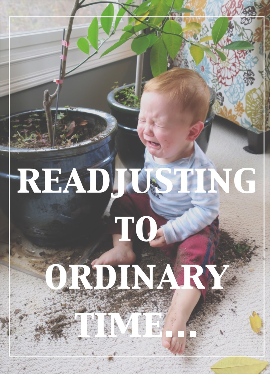 Readjusting to Ordinary Time :(