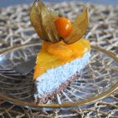 Keto basil seeds pudding cake